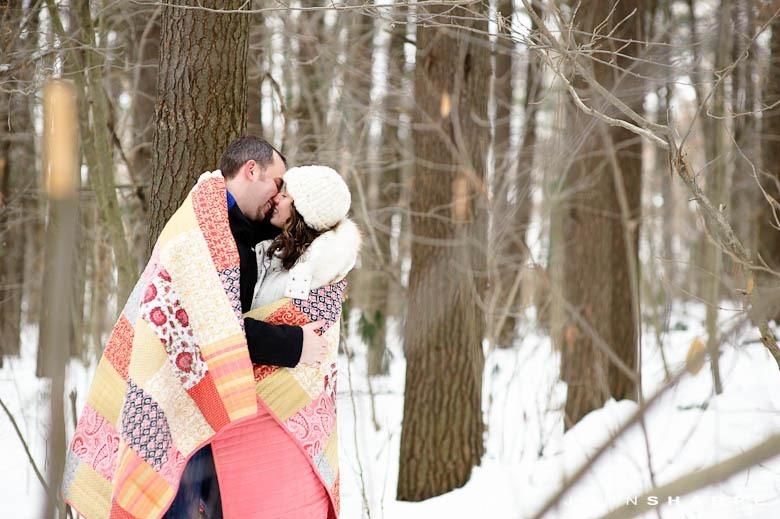 Unique Winter Engagement Photos Rochester MN Fa...