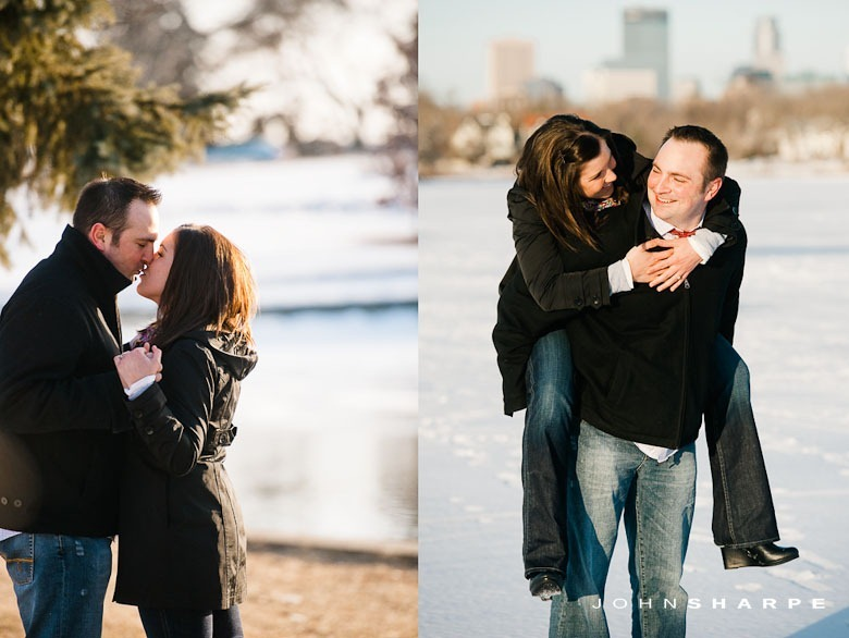 Engagement Photos in Minnesota Winter