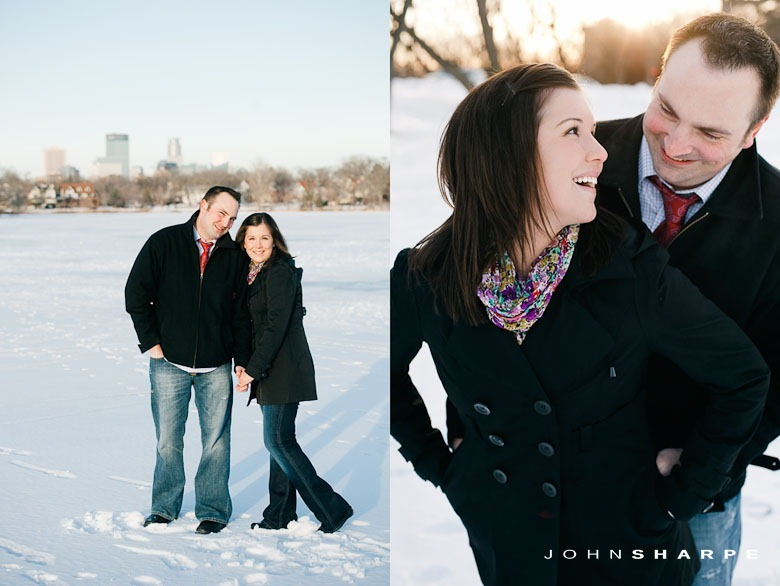 Engagement Photos on a frozen lake