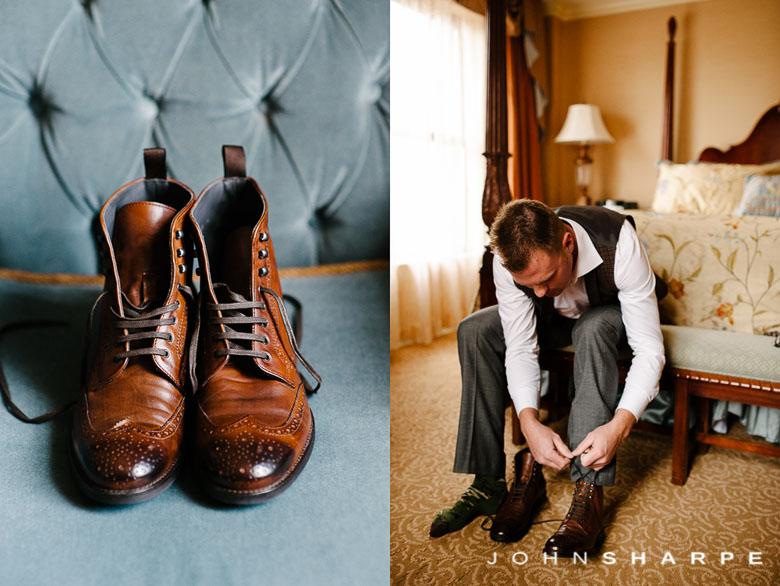 Saint Paul Hotel Wedding Groom Shoes